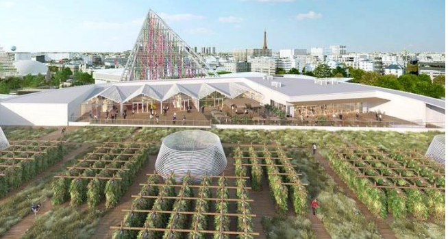 Paris is becoming the green rooftop city with the world's largest urban rooftop farm
